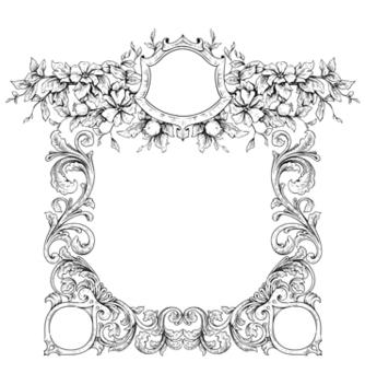 Free vintage floral frame vector - Free vector #243149