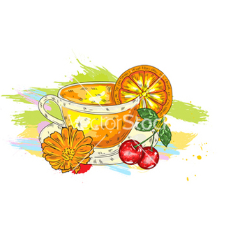 Free fruits with colorful splashes vector - Free vector #243229