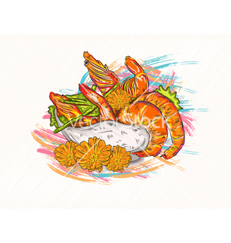 Free cooked shrimp vector - Free vector #243239