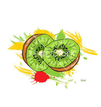 Free kiwi with colorful splashes vector - Kostenloses vector #243309