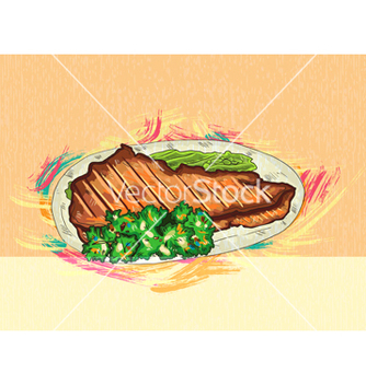 Free cooked meat vector - vector gratuit #243329