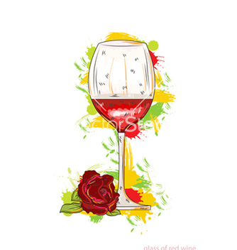 Free glass of red wine vector - Free vector #243339