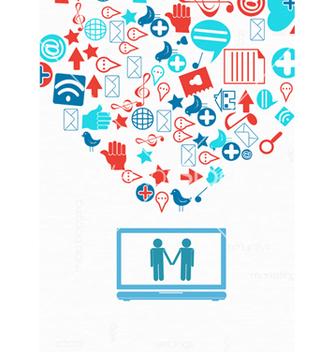 Free social media concept vector - Free vector #243429