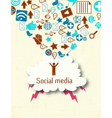 Free social media concept vector - vector gratuit #243439