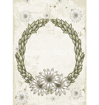 Free grunge floral frame vector - Free vector #243569