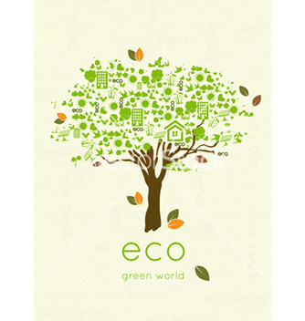 Free eco friendly tree vector - vector gratuit #243649