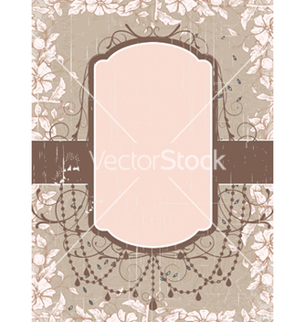 Free grunge floral frame vector - Free vector #243669