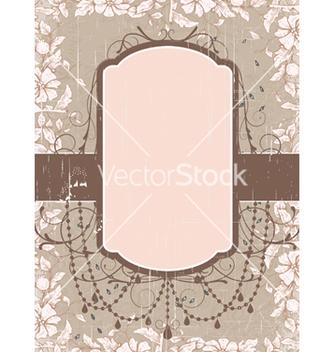 Free grunge floral frame vector - vector #243669 gratis
