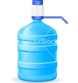 Free water in a plastic bottle vector - vector gratuit #243749