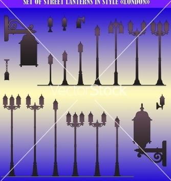 Free street lanterns vector - vector gratuit(e) #243759