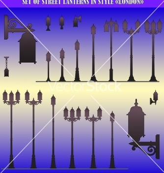Free street lanterns vector - Free vector #243759