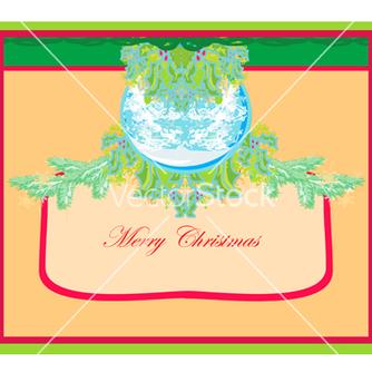 Free christmas framework style card vector - vector #243789 gratis