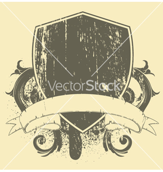 Free grunge tshirt design with shield vector - Kostenloses vector #244109
