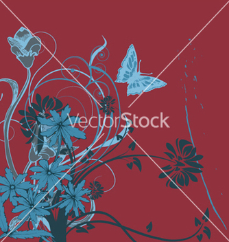 Free abstract floral background vector - Free vector #244129