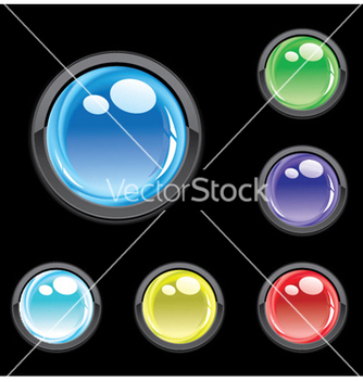 Free glossy buttons set vector - Free vector #244189