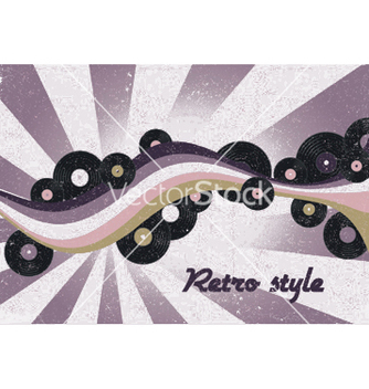 Free retro music poster vector - бесплатный vector #244349