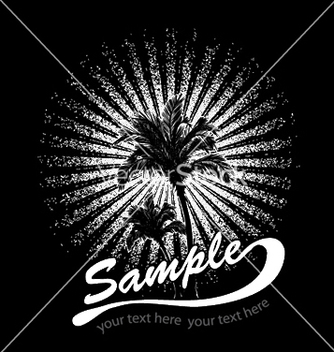 Free summer tshirt design with palm trees vector - Free vector #244369