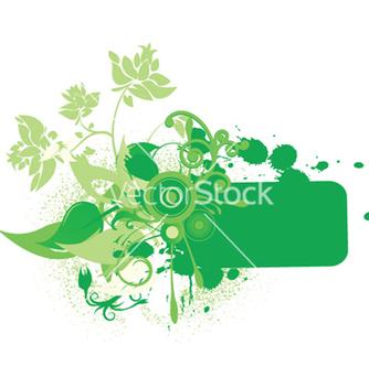Free grunge floral frame vector - vector #244389 gratis