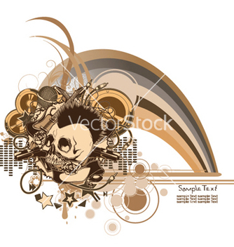 Free music background vector - vector gratuit #244409