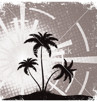 Free summer grunge background with palm trees vector - Free vector #244619