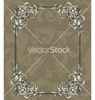 Free vintage floral frame vector - Free vector #244639
