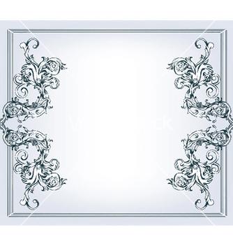 Free vintage floral frame vector - Free vector #244809