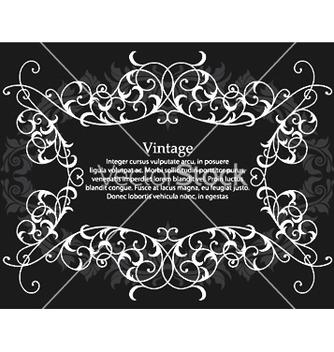 Free vintage floral frame vector - Kostenloses vector #244879