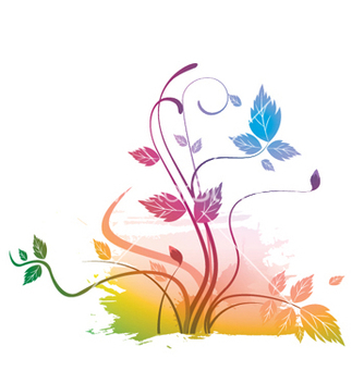 Free watercolor floral vector - vector gratuit #244979