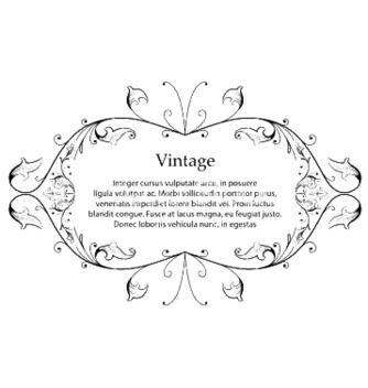 Free vintage floral frame vector - Kostenloses vector #245029
