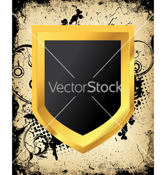Free grunge shield vector - Free vector #245039