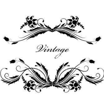 Free vintage floral frame vector - Free vector #245089