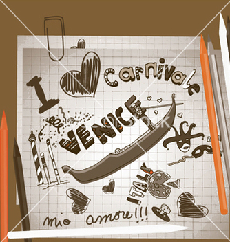 Free venice doodles vector - vector #245109 gratis