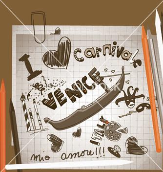 Free venice doodles vector - Free vector #245109