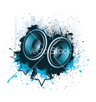 Free concert poster with speakers vector - Free vector #245119