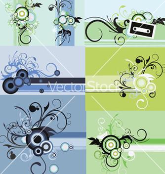 Free vintage floral frames set vector - Free vector #245289