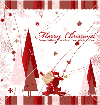 Free christmas greeting card vector - Kostenloses vector #245399