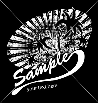 Free summer tshirt design with palm trees vector - Free vector #245469