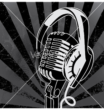 Free concert poster with microphone vector - бесплатный vector #245489