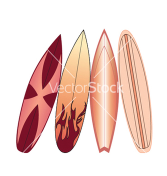Free surfboards set vector - бесплатный vector #245559