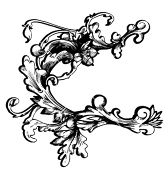 Free baroque floral element vector - Free vector #245619