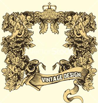 Free vintage floral frame vector - Free vector #245629