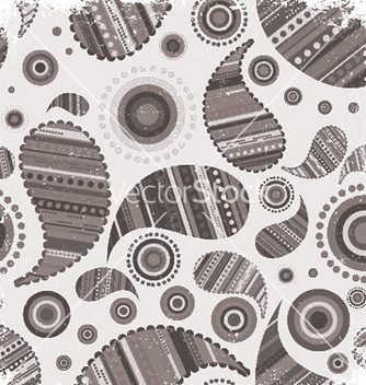 Free vintage grunge paisley wallpaper vector - Free vector #245659