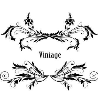 Free vintage floral frame vector - Free vector #245799