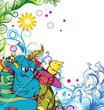 Free funny monsters background vector - Free vector #245949