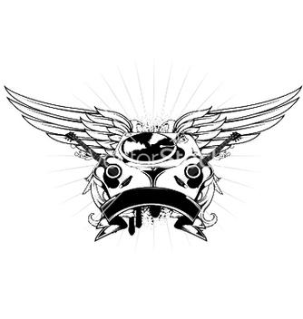 Free music emblem vector - Free vector #246009