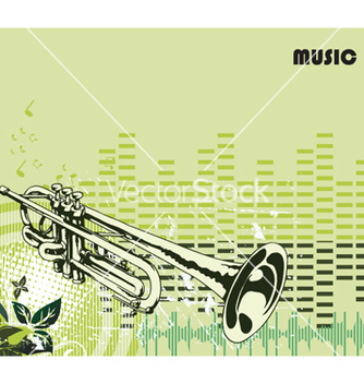 Free concert poster with trumpet vector - Free vector #246039
