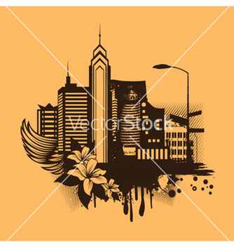 Free vintage city background vector - Free vector #246079