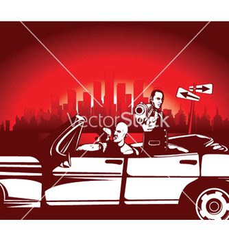 Free urban background with gangsters vector - Kostenloses vector #246099