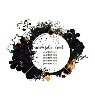 Free splash floral frame vector - бесплатный vector #246229
