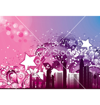 Free urban background vector - Free vector #246429